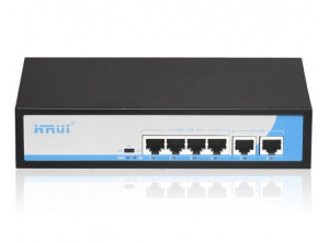 Switch POE Hrui 4 Port  HR900-AF-42N