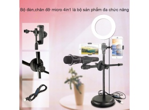 Giá đở micro live tream 4 in 1