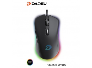 Mouse gaming Dareu EM908 usb led RGB + pad