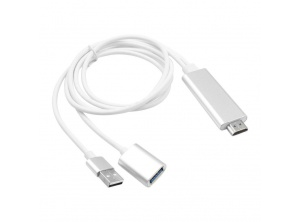 Cable chuyển HDMI to Usb đa năng (typeC, iphone, androi)