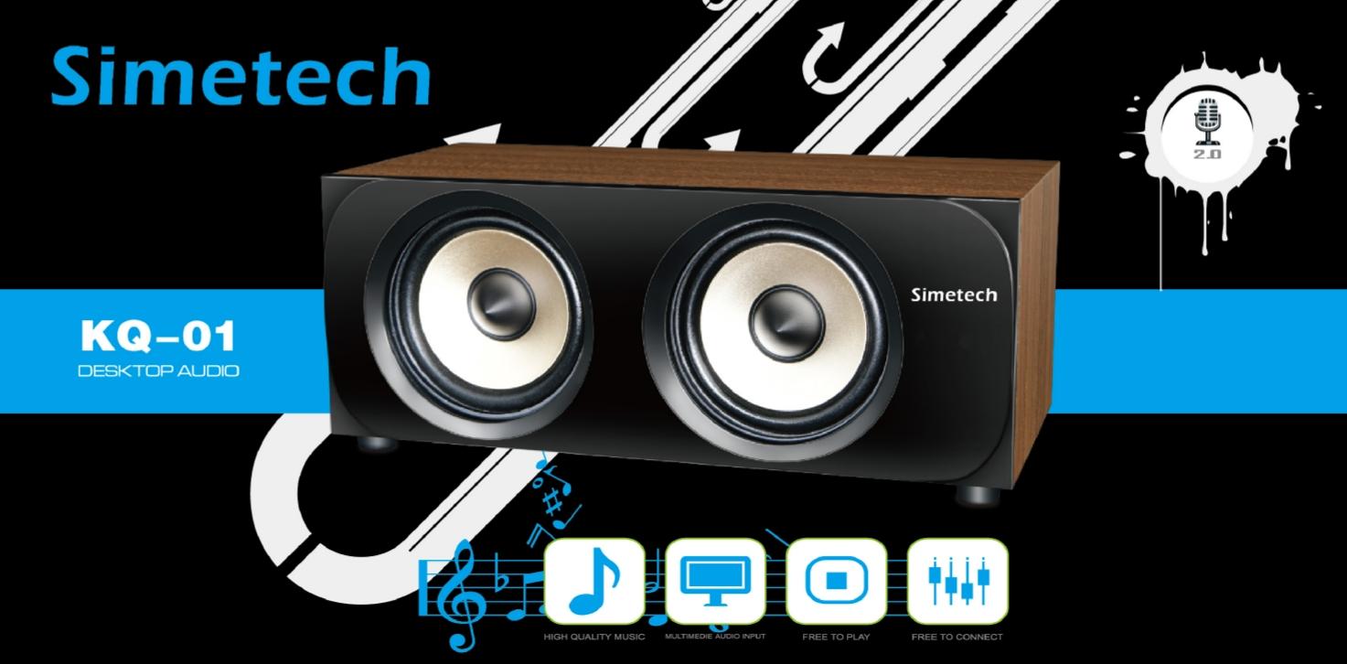 Sản phẩmLoa 2.0 Simetech KQ 01